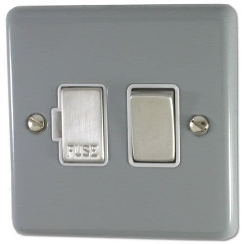 G&H CLG257 Standard Plate Light Grey 1 Gang Fused Spur 13A Switched
